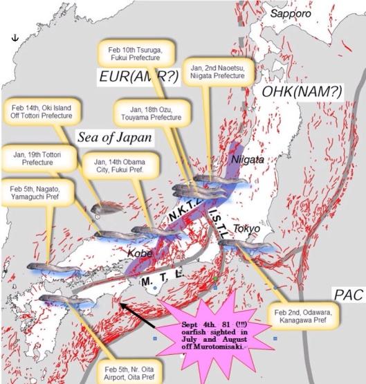 Deep Sea Fish and the Next Japanese Earthquake? February 9, 2013 www.flickr.com/photos/nihonbunka/8456913433/  Timothy Takemoto- CC BY-NC 2.0