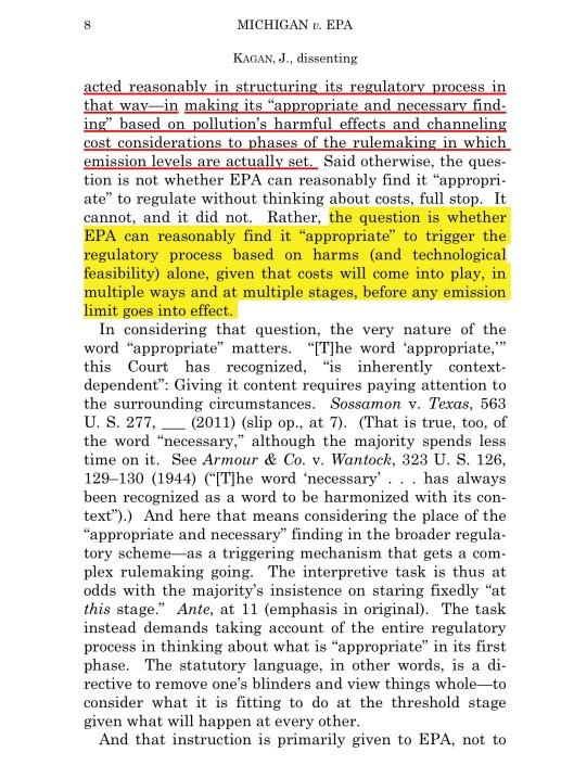 Cite as: 576 U. S. ____ (2015)  KAGAN, J., dissenting  p.8
