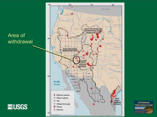 "Potential Withdrawal of Uranium Mining from the Grand Canyon Region, AZ"", by John Hoffmann and Bob Hart USGS Arizona Water Science Center June 8, 2010  D"