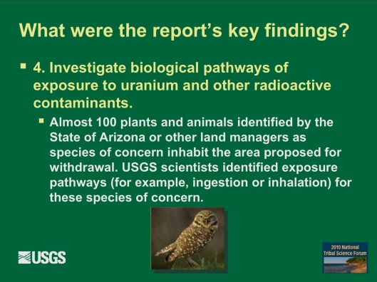 "Potential Withdrawal of Uranium Mining from the Grand Canyon Region, AZ"", by John Hoffmann and Bob Hart USGS Arizona Water Science Center June 8, 2010  F"