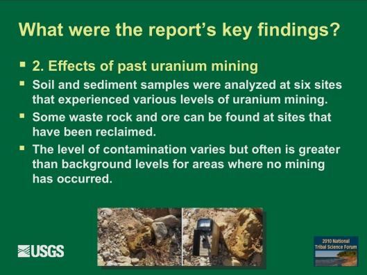 "Potential Withdrawal of Uranium Mining from the Grand Canyon Region, AZ"", by John Hoffmann and Bob Hart USGS Arizona Water Science Center June 8, 2010  G"