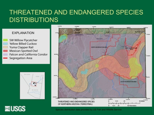 "Potential Withdrawal of Uranium Mining from the Grand Canyon Region, AZ"", by John Hoffmann and Bob Hart USGS Arizona Water Science Center June 8, 2010 Endangered 1"