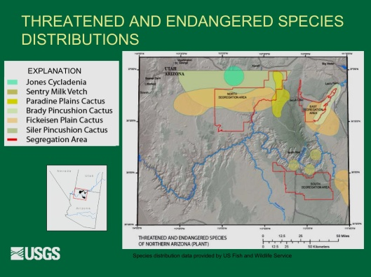 "Potential Withdrawal of Uranium Mining from the Grand Canyon Region, AZ"", by John Hoffmann and Bob Hart USGS Arizona Water Science Center June 8, 2010 Endangered 2"
