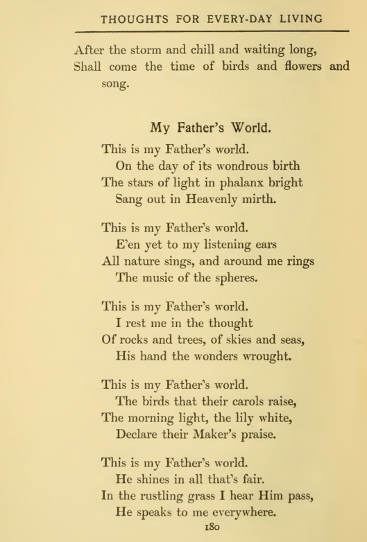 This is My Father's World p. 1