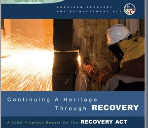 Recovery Act SRS dismantling old nuclear pipe
