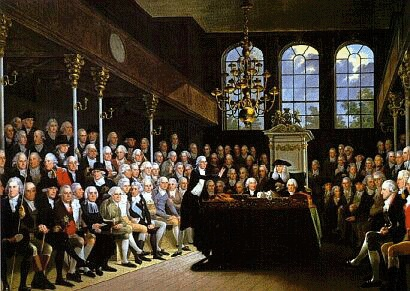 William Pitt the Younger addressing the Commons on the outbreak of the war with France (1793) by Anton Hickel