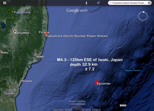 21 June 2015 earthquake Fukushima M 4.5