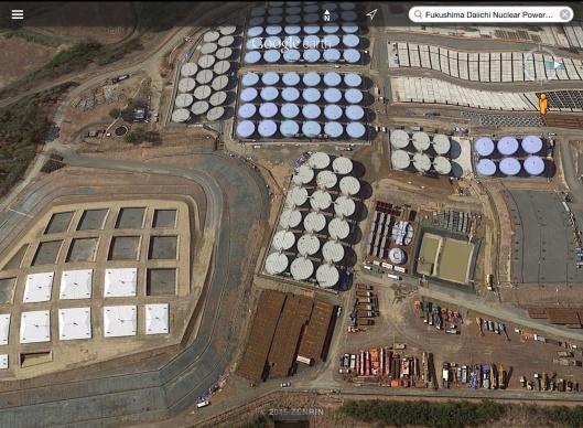 Fukushima waste water screen shot 21 June 2015