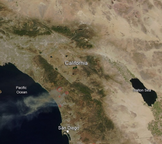 NASA San Diego Co. Wildfires 2014