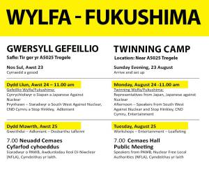 Wylfa -Fukushima August 23-25th Events