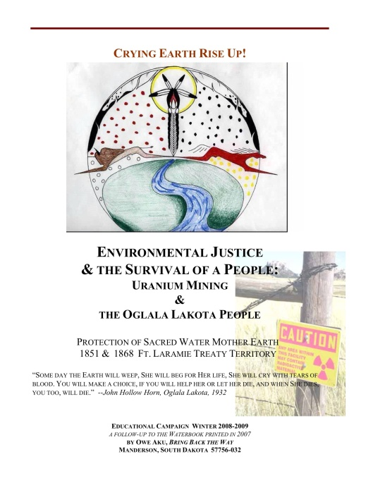 ENVIRONMENTAL JUSTICE & THE SURVIVAL OF A PEOPLE: URANIUM MINING &  THE OGLALA LAKOTA PEOPLE  cover