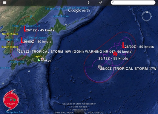Japan Typhoon 26 Aug. 2015