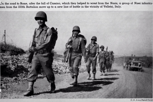 Japanese Americans fighting the Nazis US Army Signal Corps Rd. to Rome