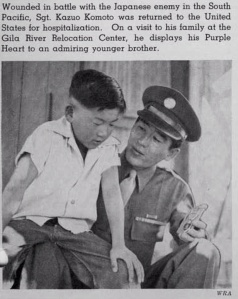 Japanese American war hero Purple Heart Pacific Theater WRA