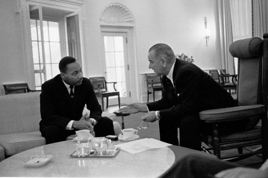 King and LBJ Yoichi Robert Okamoto (1915–1985)   White House photographer