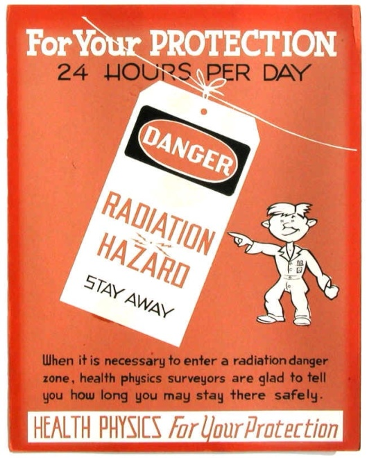 Early Health Physics Radiation Hazard sign ORNL