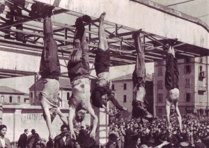Mussolini hanging upside down