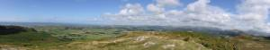 Panoramic from Black Coombe to Scafell.  Sellafield can be seen in the centre with the catchment of St Bees head