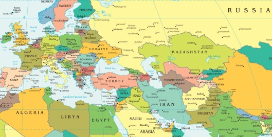 Europe Middle East Russia Map