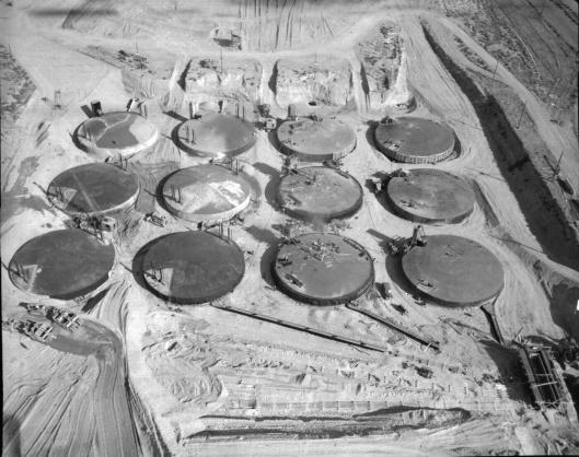 Some of Hanford Tanks DOE-Public Domain via wikipedia