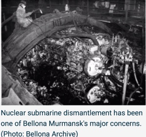 Nuclear submarine dismantlement has been one of Bellona Murmansk's major concerns. (Photo: Bellona Archive)