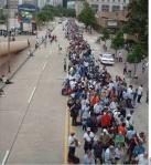 lining up Superdome Katrina