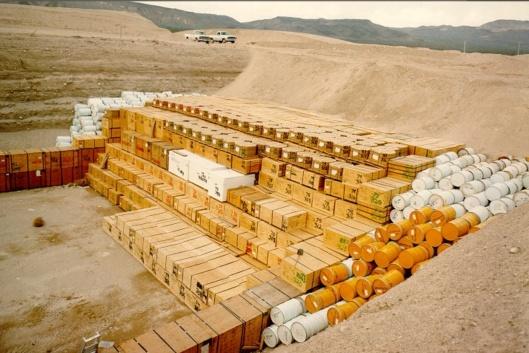 Nevada Radioactive Waste Dump, via Wikipedia LLW, USG photo