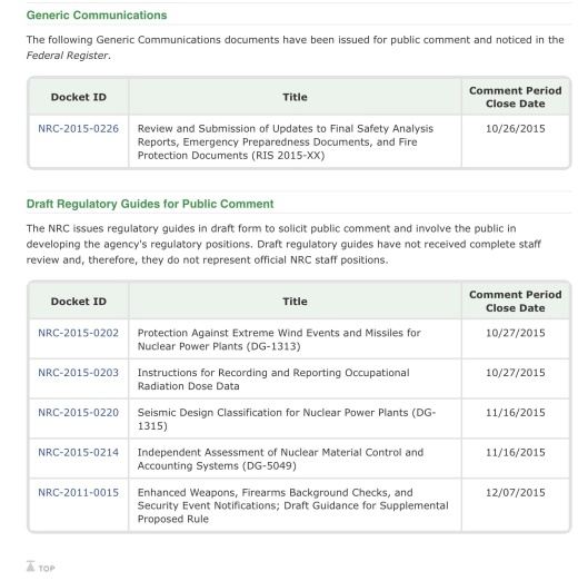 Generic Comm, Draft Reg Guides p. 2