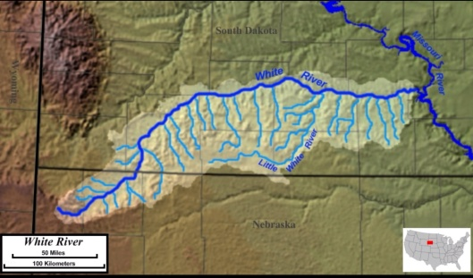 The White River and multiple tributaries cut across the reservation Jon Platek • CC BY-SA 3.0