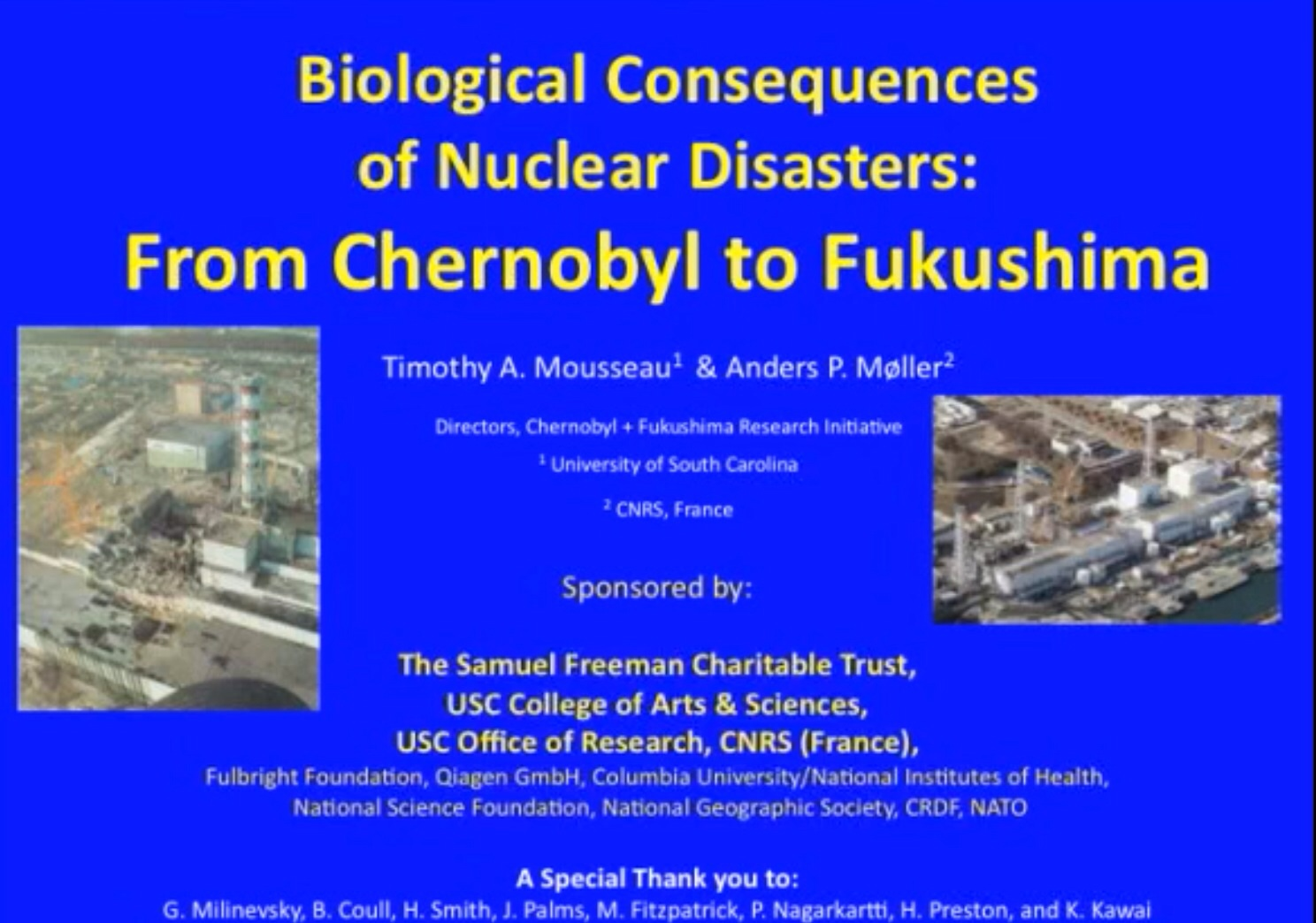 biological consequences of nuclear disasters from chernobyl to biological consequences of nuclear disasters from chernobyl to fukushima loc mousseau moller funding