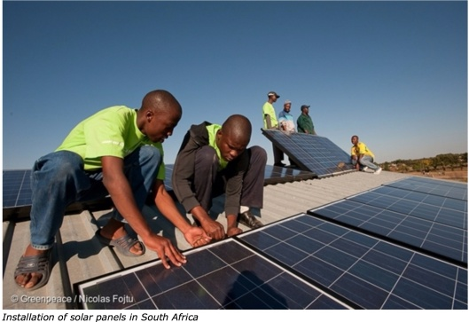 South Africa Solar Panels Greenpeace