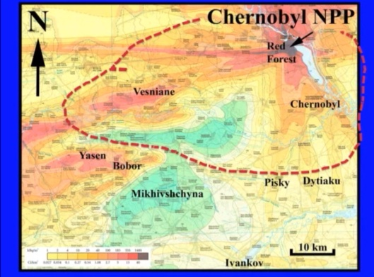 Biological Consequences of Nuclear Disasters: From Chernobyl to Fukushima, LOC-Mousseau Chernobyl zone patchy radiation
