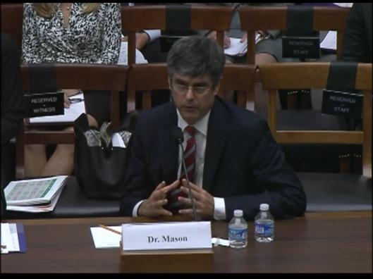 ORNL Thom Mason at Congressional Hearing Oct. 2015