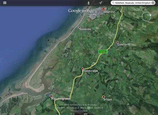 Sellafield Ravenglass Map