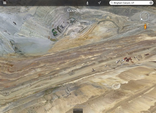 Bingham Canyon Mine zoom in