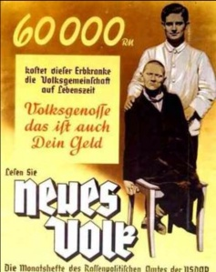 Nazi Poster against the Disabled