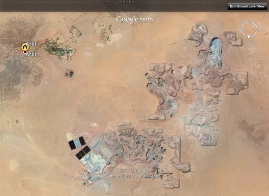 Areva French uranium mine near Arlit Niger