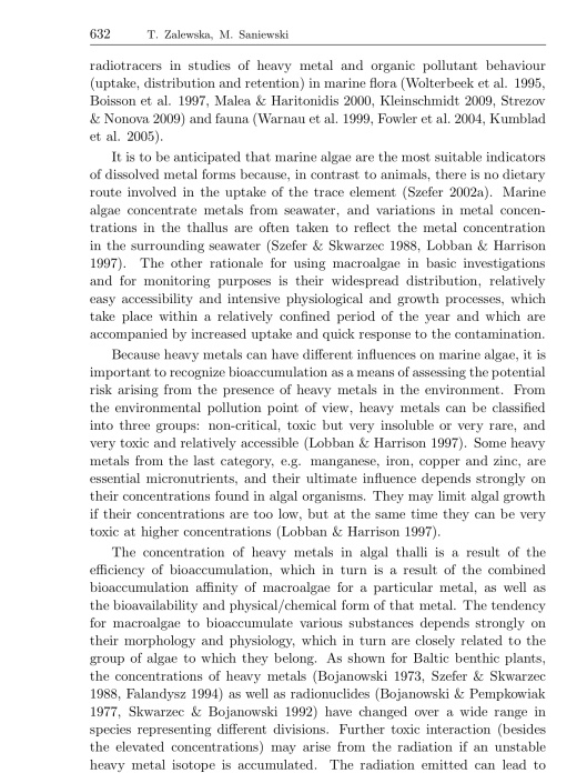 Bioaccumulation of gamma emitting radionuclides in red algae by Tamara Zalewska Michał Saniewski, p. 2