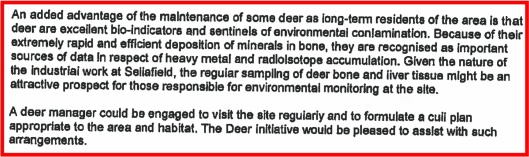 Deer Initiative Enviro monitoring Sellafield
