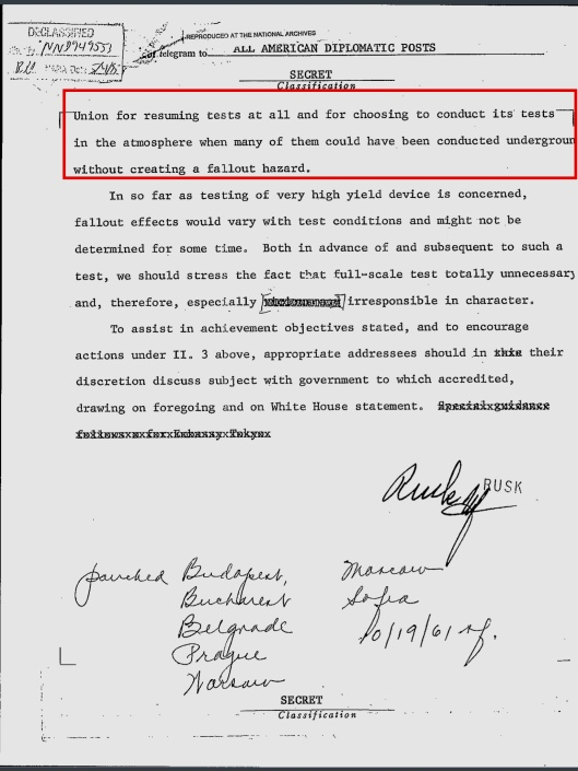 US State Dept notice re pending Tsar Bomba 18 Oct. 1961, p. 5