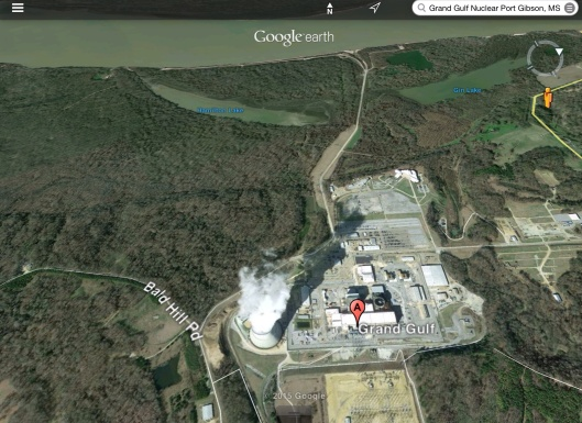 Grand Gulf Nuclear Reactor with Lakes River