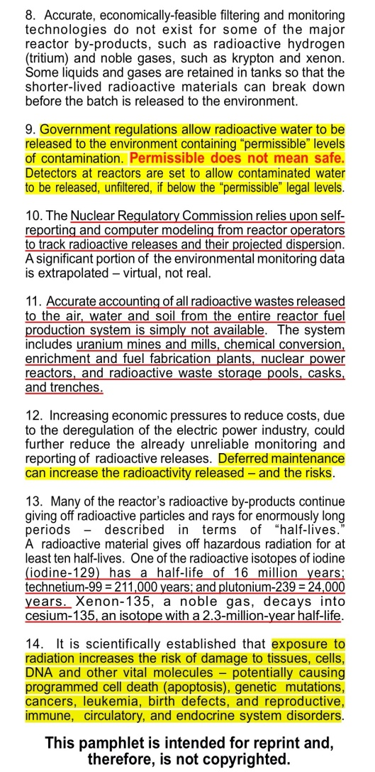 Radioactive Releases from the Nuclear Reactors of the