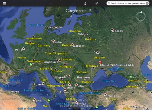 South Ukraine Nuclear Power Station in Europe map