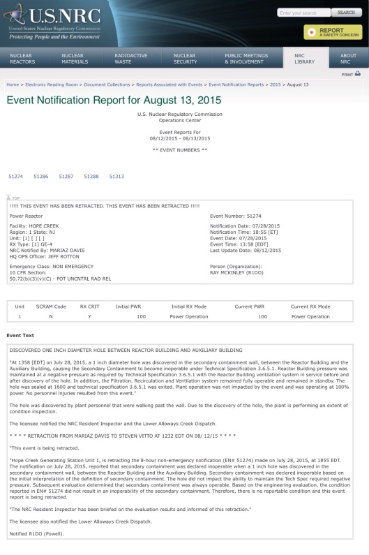 Mouse hole event retraction Aug 2015 2 weeks later and after patch