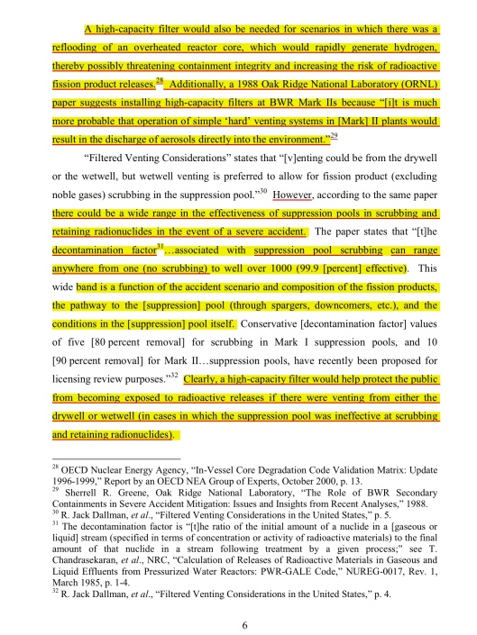 "p. 6 ""Post-Fukushima Hardened Vents with High-Capacity Filters for BWR Mark Is and Mark IIs "" By Mark Leyse, NRDC, July 2012, submitted to the US NRC:  ML1225/ML12254A865"