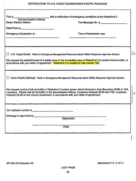 Entergy Coast guard form