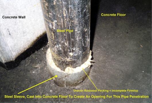 improper pipe sleeve public domain via wikimedia