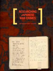 Japan War Crimes NARA cover