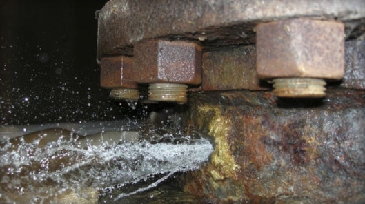 US NRC Photo of Pipe Leak from Corrosion Byron
