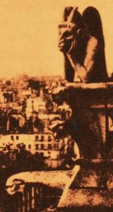 Gothic Gargoyle Notre Dame 1850s